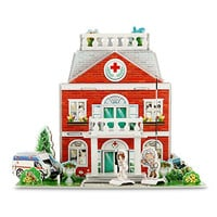 3D Puzzle Educational Toys for 3-8 year olds Child Hospital Kids Toys for boys and girls Handmade Creative Assembling (50 Pieces)