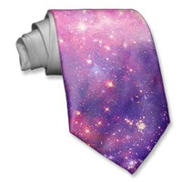 Colorful Pink & Blue Galaxy Nebula Ties