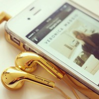 Amazon.com: Gold Earbuds by Happy Plugs