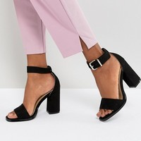 RAID Imani Black Block Heeled Sandals at asos.com