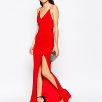 Club L Slinky Fishtail Maxi Dress