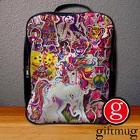 90s Lisa Frank Collage Backpack for Student