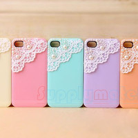 1PCS Handmade Pearl lace cell phone case for iPhone 4 and iphone 4s cover