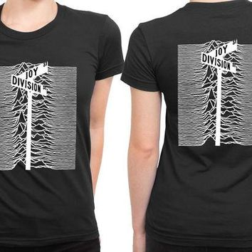 VONEED6 Joy Division Street Black And White 2 Sided Womens T Shirt