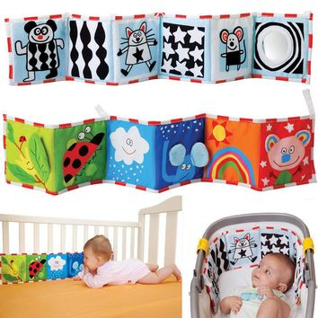 High Quality Colorful Patterns Baby Mobile Cloth Book Crib Bed Around Soft Plush Early Educational Cot Baby Toys