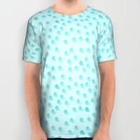 Baby Blue Dots Pattern All Over Print Shirt by Allyson Johnson | Society6