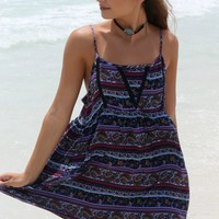 Cali Waves Navy Sundress