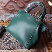 CARTIER WOMEN LEATHER HANDBAG SHOULDER BAG