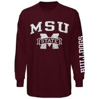 Mississippi State Bulldogs Big Arch N' Logo Long Sleeve T-Shirt – Maroon