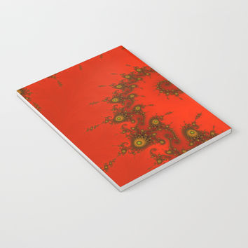 Red fractal. Abstract pattern Notebook by veronika2v