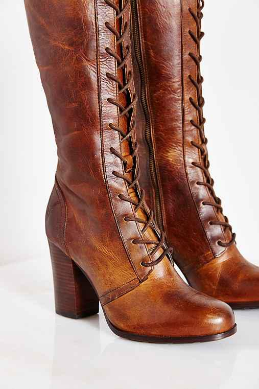 47fa54b7016a1 Frye Parker Lace-Up Tall Boot- Tan from Urban Outfitters