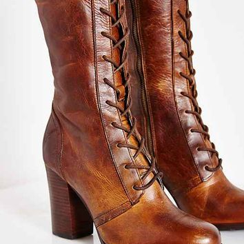 Frye Parker Lace-Up Tall Boot- Tan