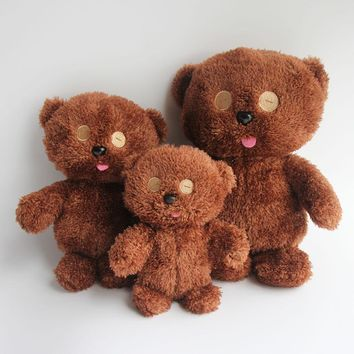 2016 New 20cm Brown Color Soft Bob's Stuffed Plush Toy Teddy Bear Baby Kids Friend Dolls