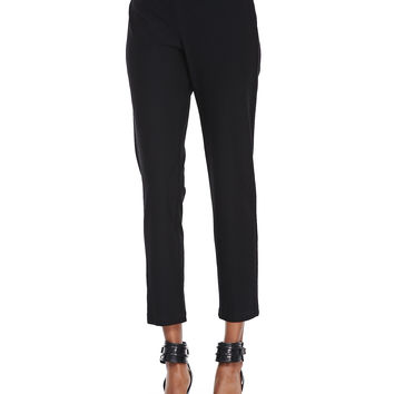 Washable Stretch-Crepe Ankle Pants, Women's - Eileen Fisher - Black (2X (18/20))