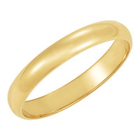 Men's 14K Yellow Gold 4mm Traditional Plain Wedding Band (Available Ring Sizes 7-12 1/2)
