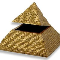 Pyramid of Giza Hinged Treasure Box Golden Wonder of Ancient World 5H