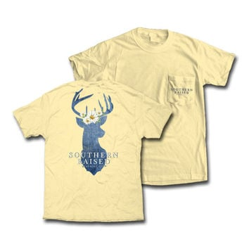 "Southern Raised ""Daisy Deer"" Tee on Comfort Colors - 2 Color Choices"