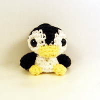 Amigurumi Penguin Backpack Charm by anamorphicecho on Etsy