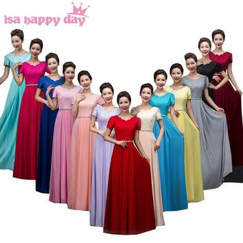classy long chiffon dress modest semi formal bridesmaides gray red brides maid yellow bridesmaids dresses under 100 B3118