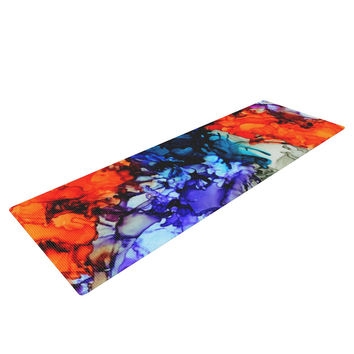 "Claire Day ""Evanescence"" Blue Rainbow Yoga Mat"