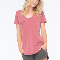 Others Follow Womens Pocket Tee Brick  In Sizes