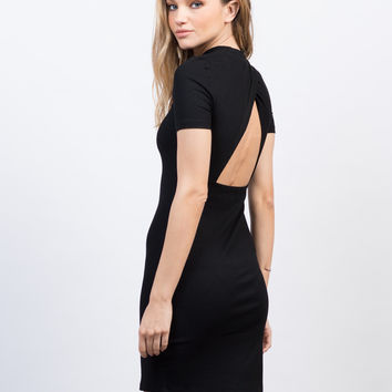 Solid Ribbed Tee Dress
