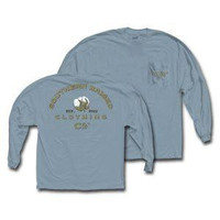 Southern Raised Cotton Boll Long Sleeve Tee on Comfort Colors 2X-Army Green