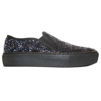 ... 84760 2d89b CREYONIG Wanted Groove - Dark Blue Glitter Slip-On Sneaker  amazing selection ... 8d1503d0fa