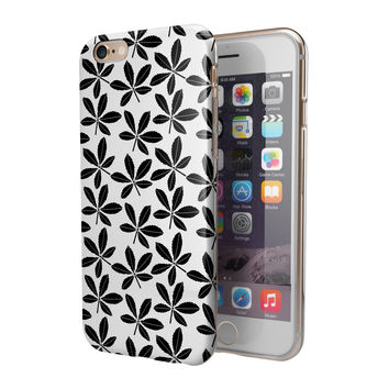 Slate Black 5 Leaf Clovers 2-Piece Hybrid INK-Fuzed Case for the iPhone 6/6s or 6/6s Plus