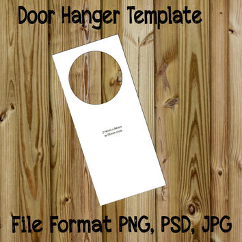Door Hanger Template Instant Download PSD, PNG, JPG Make Great Craft Items with Cute Images on your Template