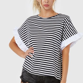 Line Field Oversized Top