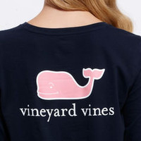 Women's Tees: Long Sleeve Whale Logo T-Shirt for Women – Vineyard Vines