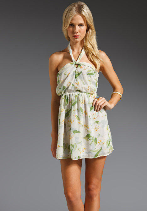 Lovers + Friends Lilies Halter Mini Dress in Hawaiian from REVOLVEclothing.com