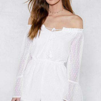 Drop Anchor Off-the-Shoulder Romper