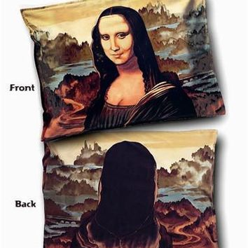 Mona Lisa Pillow Case Sham for Standard Bed Pillow by Leonardo DaVinci 27L