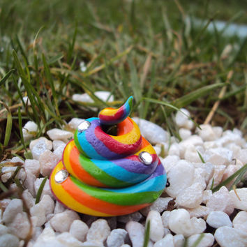 Magical Unicorn Poop, Rainbow Poop Fairy Garden, Miniature Garden Accessories