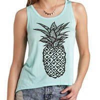 PINEAPPLE GRAPHIC HIGH-LOW TANK TOP