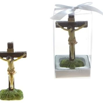 jesus on cross statue poly resin Case of 48