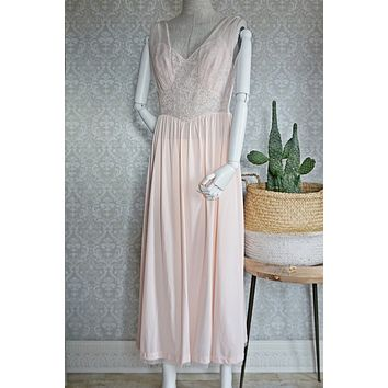 Vintage Romantic  Pink Lace Nightgown
