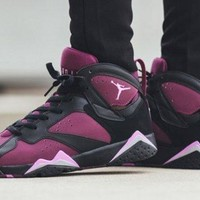 Beauty Ticks Vawa Womens Air Jordan 7 Retro High Gs Fuchsia Glow 442960-009 Basketball Shoes Purple