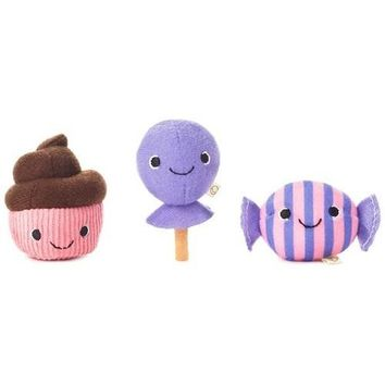 Happy Go Luckys Sweet Treats Mini Stuffed Animals, Set of 3
