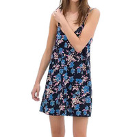 Strappy V-neck Mini Floral Dress
