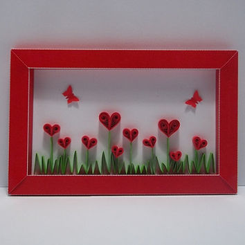 """Quilled Valentine Card """"Love blossom"""""""