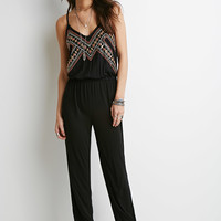 Embroidered Cami Jumpsuit