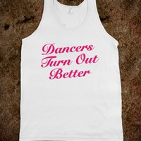 Dancers Turn Out Better Tank Top Pink (IDA610003)