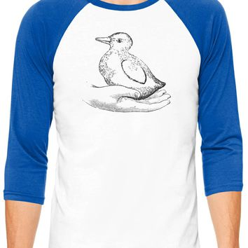Austin Ink Apparel Baby Goose White Unisex 3/4 Sleeve Baseball Tee
