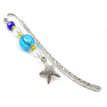 Beaded Starfish Bookmark: Beach Theme Book Lover Gift