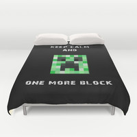 minecraft - creeper - black option Duvet Cover by Steffi ~ findsFUNDSTUECKE
