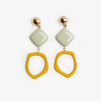 Mustard Chandelier Earrings