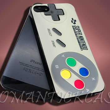 SNES Super Nintendo Controller - iPhone 4/4s/5c/5s/5 Case - Samsung Galaxy S3/S4 Case - Black or White